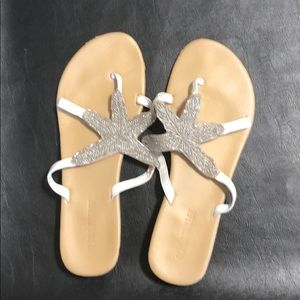 Olivia Miller Sandals with silver beads